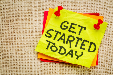 © Marekuliasz | Dreamstime.com - Get Started Today Reminder Note Photo