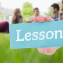 © Wavebreakmediamicro | Dreamstime.com - Lessons Against Happy Students Sitting Outside On Campus Photo