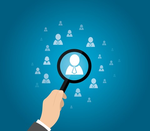 © Penguiin   Dreamstime.com - Human Resources, CRM, Data Mining, Officer Looking For Employee Represented By Icon. Vector Illustration Photo