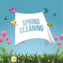 © Shelma1 | Dreamstime.com - Cartoon Birds Flying With Spring Cleaning Message Photo