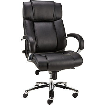 Staples Sonada Bonded Leather Managers Chair, Fixed Arm, Black 2[1]