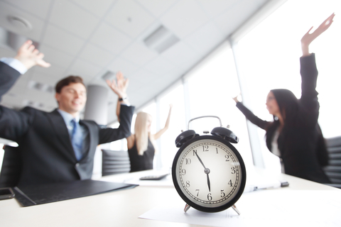 "© Alotofpeople | Dreamstime.com - <a href=""http://www.dreamstime.com/stock-photo-end-workday-team-rejoices-image53989682#res2965056"">End Of Workday Photo</a>"
