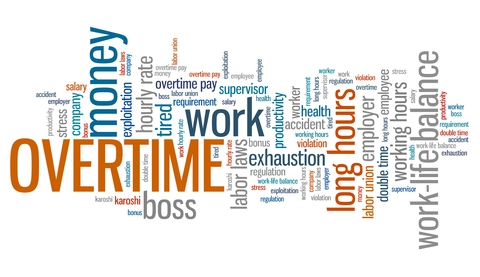 "© Tupungato | Dreamstime.com - <a href=""https://www.dreamstime.com/stock-illustration-overtime-employment-issues-concepts-word-cloud-illustration-word-collage-concept-image55858347#res2965056"">Overtime Photo</a> overtime rules"