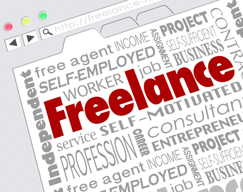 © Iqoncept | Dreamstime.com - Freelance Indpendent Contractor Website Developer Word Collage Photo