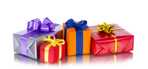 © Rose1509 | Dreamstime.com - Collection Row Of Colorful Gift Boxes With Bows, Isolated On White Photo