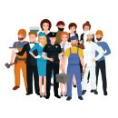© Anutaberg | Dreamstime.com - Set Workers Team, Profession People Uniform, Cartoon Vector Illustration Photo