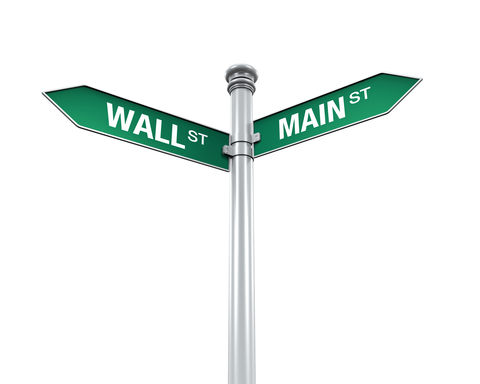 What is Wall Street Telling Main Street - street signs