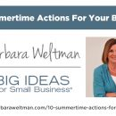 Video - 10 Summertime Actions for Your Business