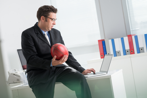 Betting on football at the office