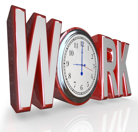 © Iqoncept | Dreamstime.com - Work Clock Word Time To Get Working On Job Career Photo