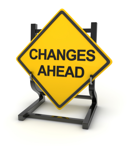 © Adempercem | Dreamstime.com - Road Sign Writing On Changes Ahead Photo